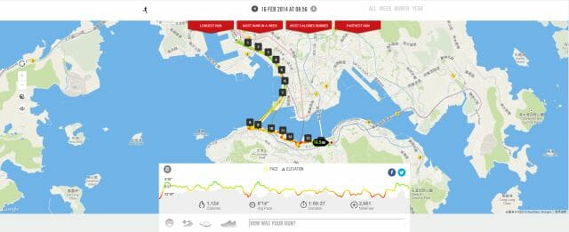 nike running web map