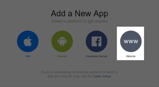 facebook create app id
