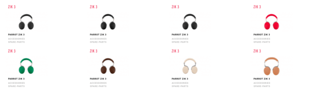 Parrot Zik 3 colours