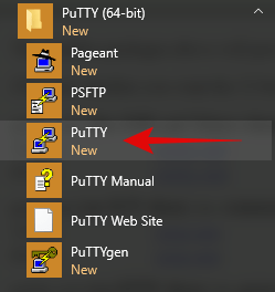putty all programs